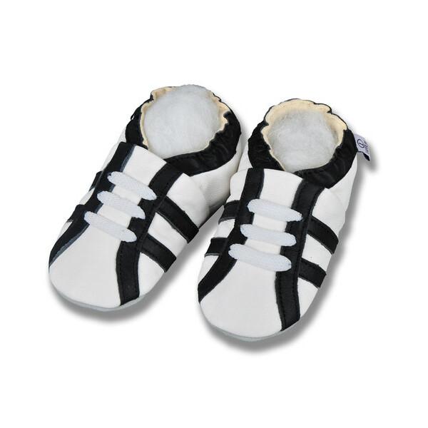 Hausschuhe Sport Weiß Schwarz