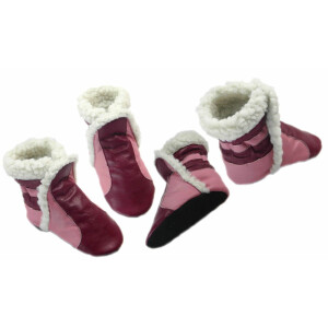 Booties bordeaux-rosa
